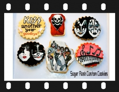 KISS Rock Band Cookies By SugarRushCustomCookies on CakeCentral.com   http://www.flickr.com/photos/sugarrushcustomcookies/with/10521005674/