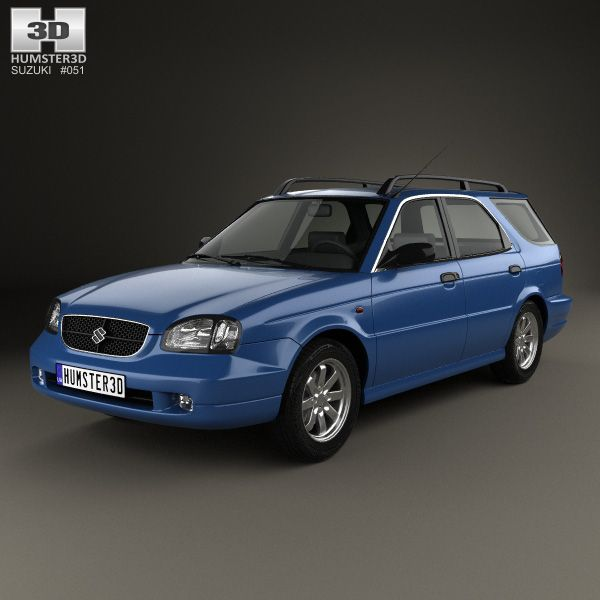 Suzuki Baleno (Esteem) 1999 3d model from humster3d.com
