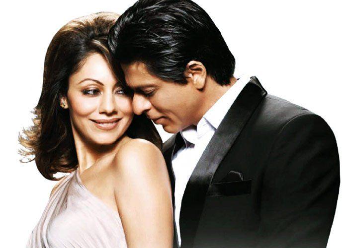 SRK with wife Guari khan