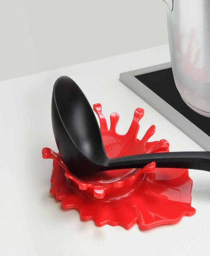 Bloody Splash Red Spoon Rest