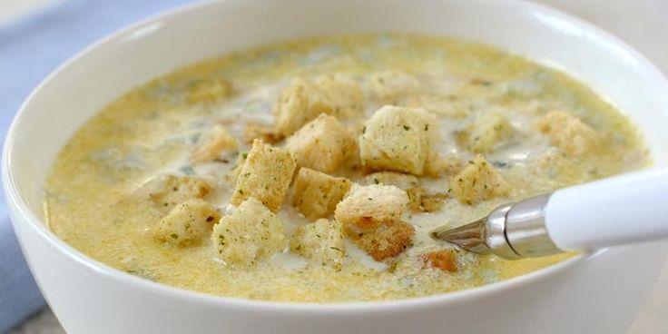 Fransk ostesuppe - Om du liker blåmuggost, digger du garantert denne. Bon appétit!