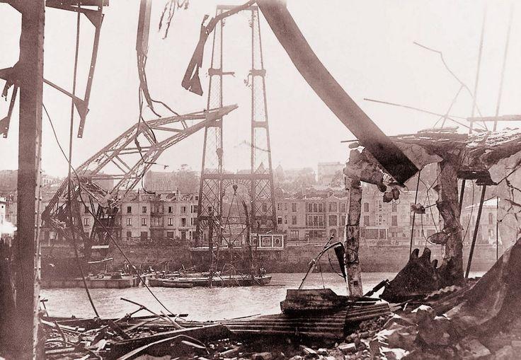 El Puente Colgante en La Guerra Civil 1937