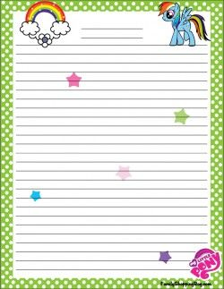 free printable my little pony stationery 4