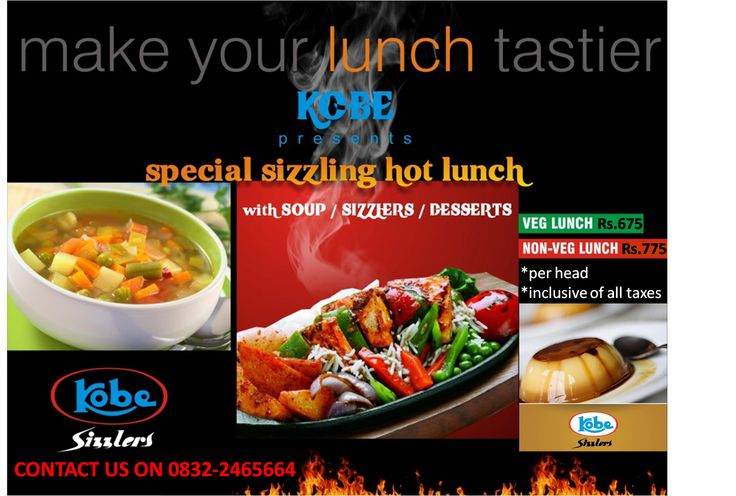 Exciting Combos at Kobe Sizzlers Goa!! Contact 0832-2465664!!