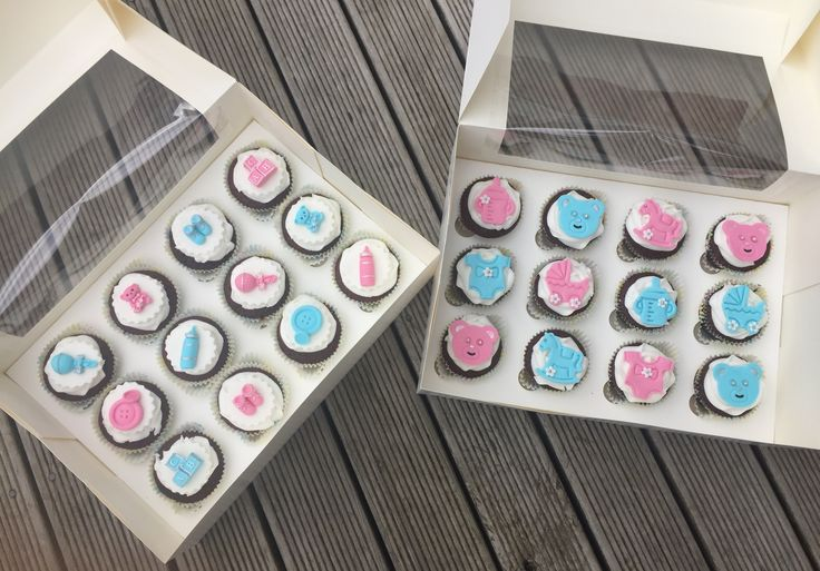 Baby Shower Cupcakes! Mixed Gender! Super cute!!  Check out my page https://www.facebook.com/frosted.cupcakes.invercargill/