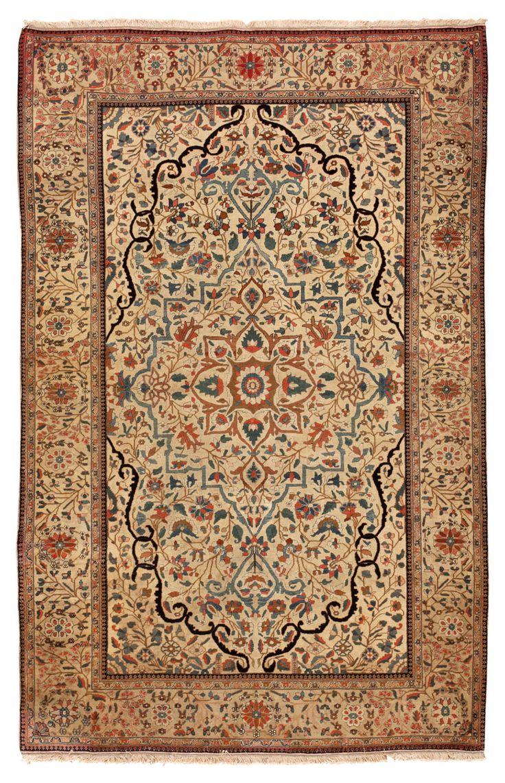 Antique Kashan Mohtashem Persian Rug 45257 Detail/Large View - By Nazmiyal >>>> great piece, rare designs.