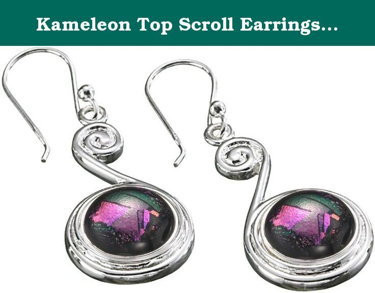 "Kameleon Top Scroll Earrings KE15 (JewelPops Sold Separately). These are Kameleons Top Scroll Earrings. They consist of a fine detailed sterling silver ""scroll"" set with a JewelPop docking station. Have fun with these unique earrings, which are just begging to be filled with your imagination!."