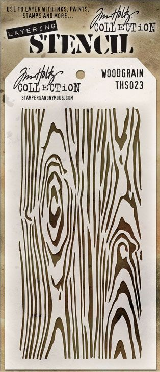 Stampers Anonymous Tim Holtz Woodgrain Layering Stencil