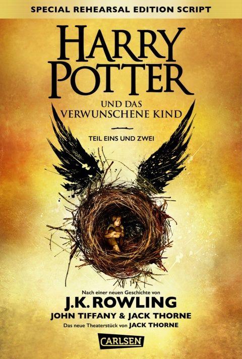 J. K. Rowling - Harry Potter und das verwunschene Kind. Teil 1 und 2 (German Cover} || ET: 24. September 2016 im Carlsen Verlag