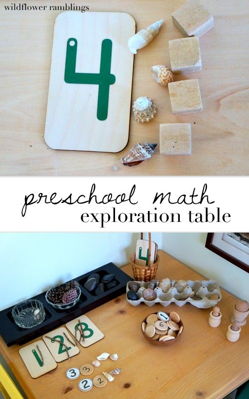 Reggio preschool math nature and exploration table - wildflower ramblings