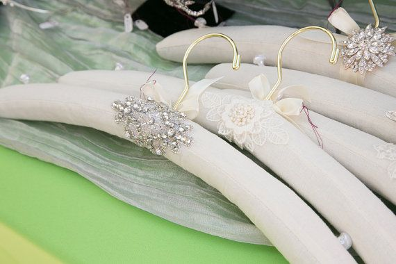 Bridal Hanger Wedding Hanger Custom Embellished with by OWDJewelry