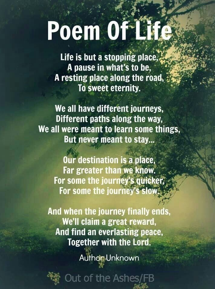 Poem Of Life With Images Poems About Life Grieving Quotes