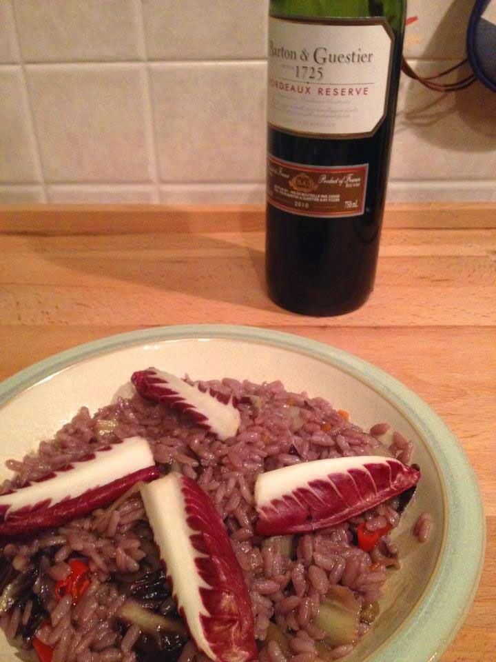 [Risotto con radicchio e Bordeaux] Cucinare Meglio