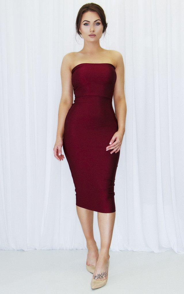 This rouge figure hugging dress is just what you need this summer for a night on the town. You'll turn heads!