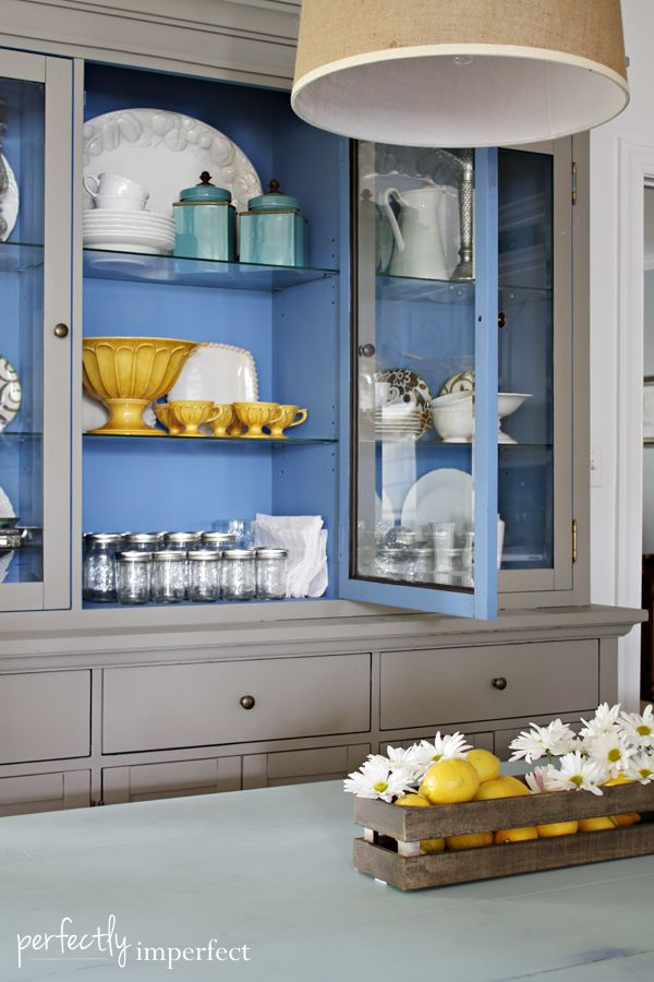 Laminate Hutch & Table Redo with Chalk Paint® | perfectly imperfect