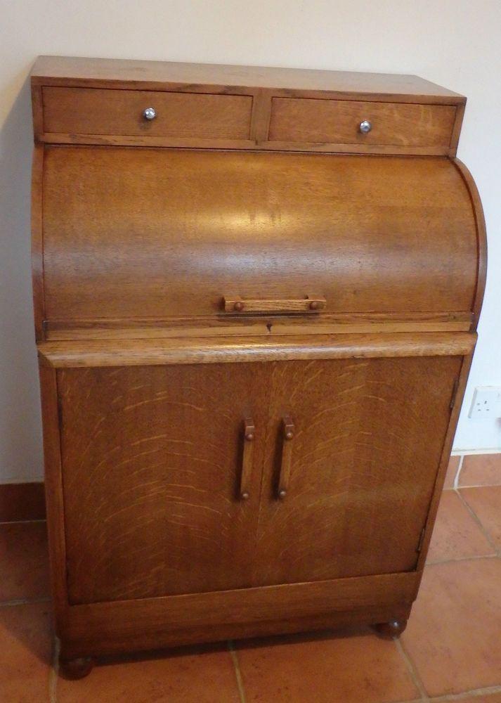1000 images about roll top desk antique desk on pinterest for Computer bureau