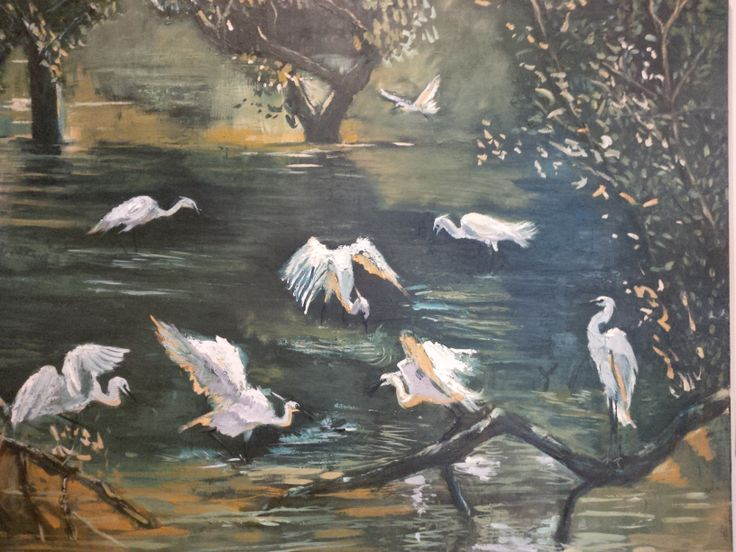 The early birds. ( a repro from a Chinese artist)
