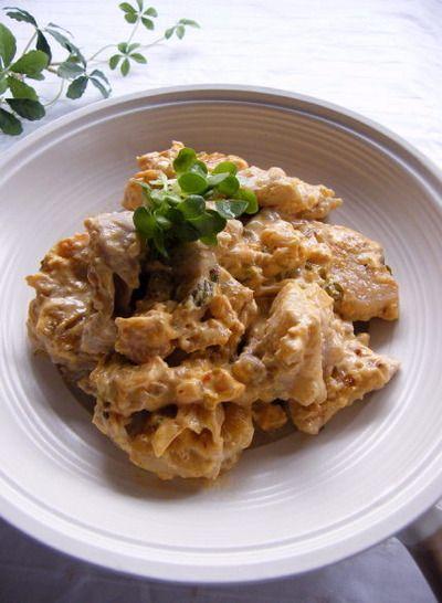 鶏肉のキムチマヨネーズ炒め