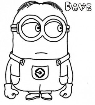 print out dav e the minion despicableme 2 coloring pages disney characters fargelegge - Colouring Pages Of Disney Characters