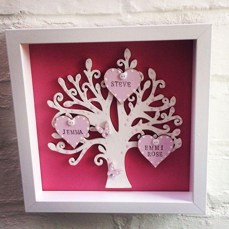 Family tree box framed