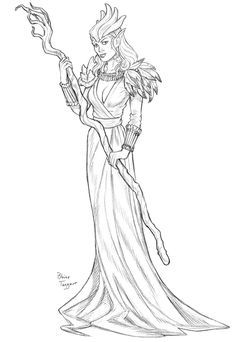 Sorceress Coloring Pages Moonlight Mage By Staino