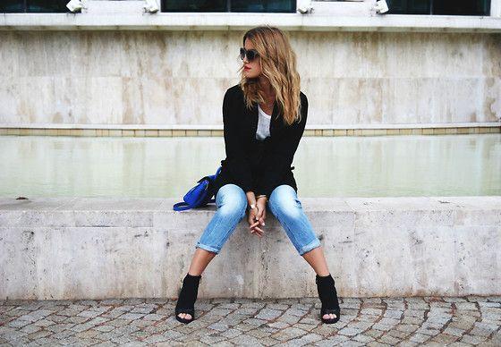 G Star Raw Coat, Zara Heels, G Star Raw Jeans, Parfois Bag