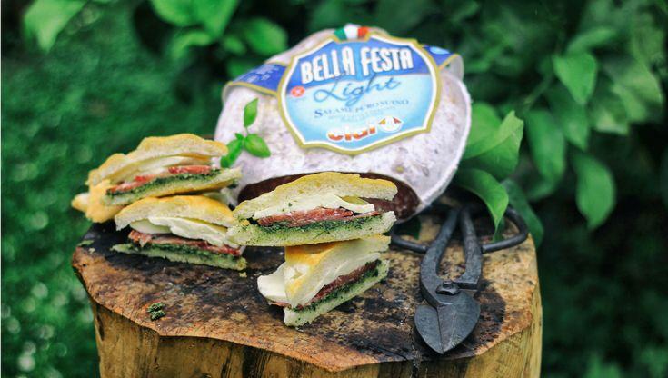Focaccia ligure con salame Bella Festa light | iFood