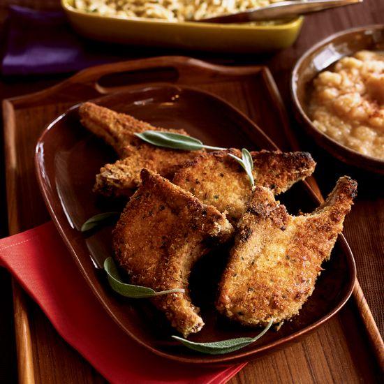Panko-Breaded Pork Chops // More Fast Pork Recipes: http://www.foodandwine.com/slideshows/fast-pork-recipes #foodandwine