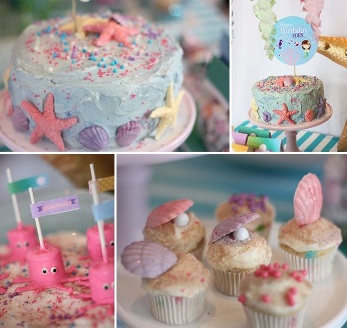 Mermaid Under the Sea party by Wants and Wishes really cute