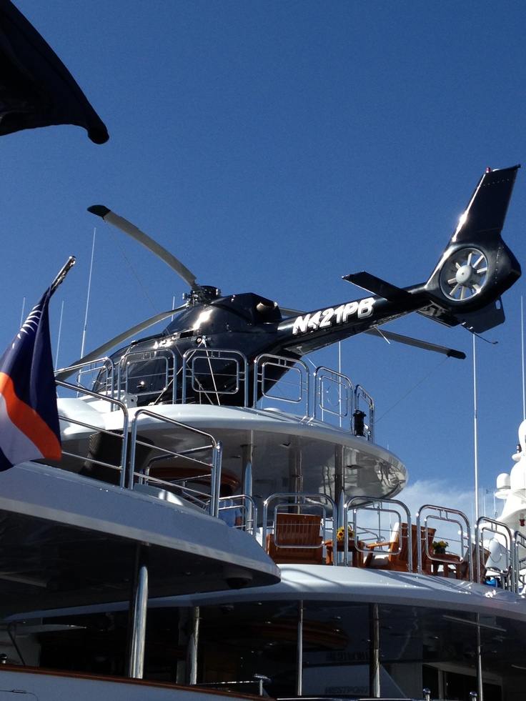 Fort Lauderdale International Boat Show 2012. Helicopter with yacht..or Yacht with helicopter.. How to earn $3000 per month? Get #Paid Taking Surveys at Home! #Cash #money #profit