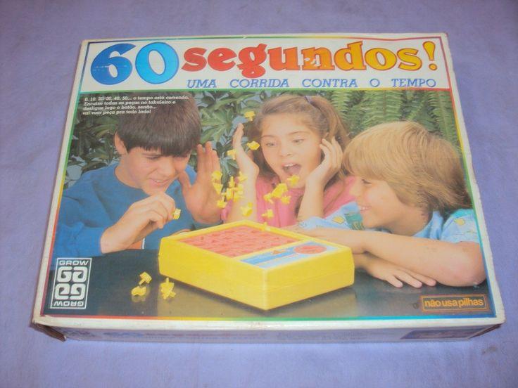 Brinquedo Antigo, Jogo 60 Segundos Da Grow Anos 80. - R$ 70,00 no MercadoLivre