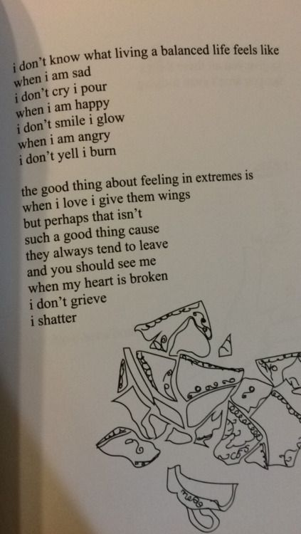 """bpdjelly: """" so i got this new poetry book and i thought it'd ring w some borderlines like it did me,, it's from milk and honey by rupi kaur!! """""""