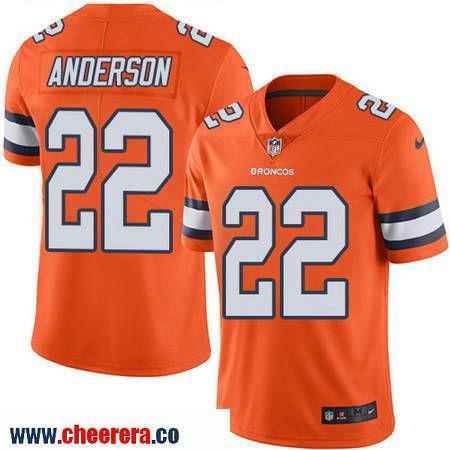 54ce265de48 ... Mens Denver Broncos 22 C. J. Anderson Orange 2016 Color Rush Stitched  NFL Nike Limited Jersey .