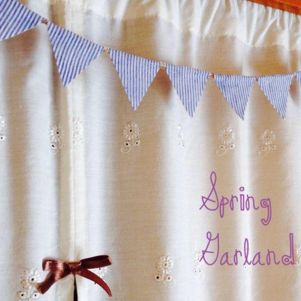 春夏のお部屋作りやお祝いの飾り付けにピッタリのフラッグガーランド♪今回は針も糸も使わないのに、端がボソボソにならずに作れる方法をご紹介します^ ^