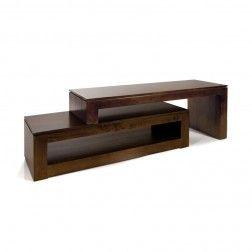 Mueble tv cubic nogal estilo moderno muebles para el for Mueble tv dormitorio