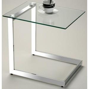 Mesa auxiliar TV cristal