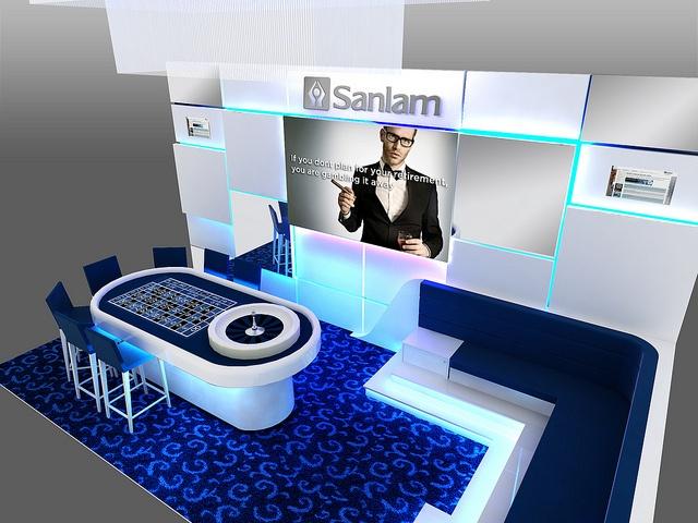 Sanlam Corporate Roulette Activation - perspective