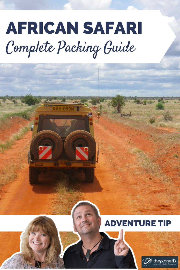 A complete safari packing list for your travels to Africa. What to wear on safari, from keeping cool to blending in! | Blog by The Planet D: Canada's Adventure Travel Couple