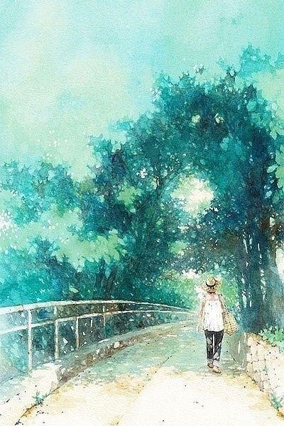 越来越任性是因为爱得太深。越来越沉默是因...@宁馨郁金香采集到一画一世界(2752图)_花瓣插画
