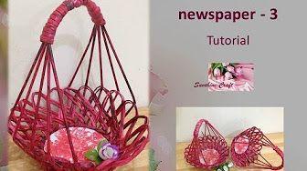 How to make newspaper basket - YouTube