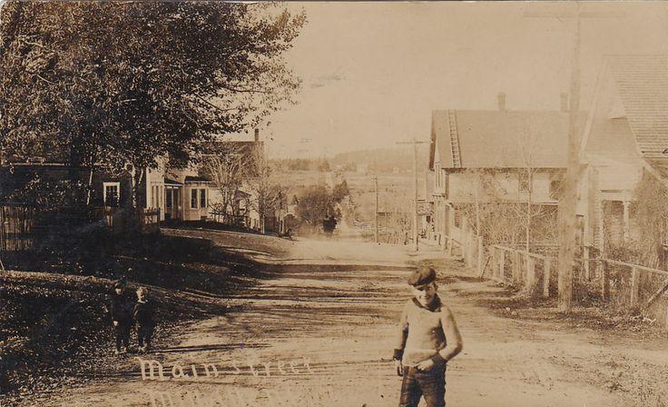 RP: Main Street (dirt) , MILLVILLE , New Brunswick , Canada , PU-1908