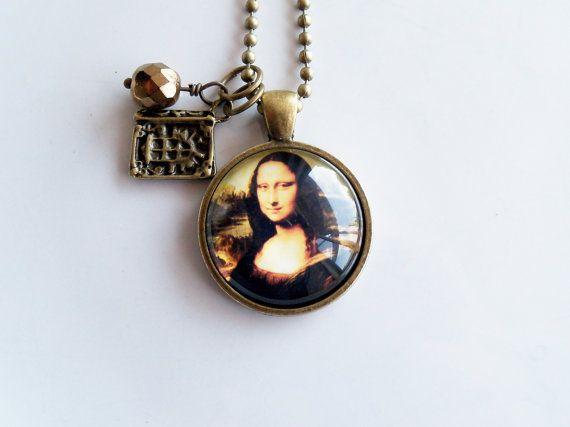 Mona Lisa Necklace  Art Pendant Necklace  Art History Lover