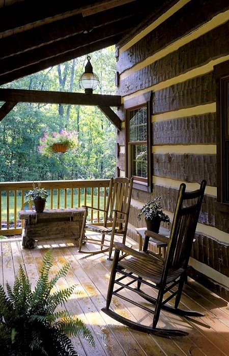 rustic porches..
