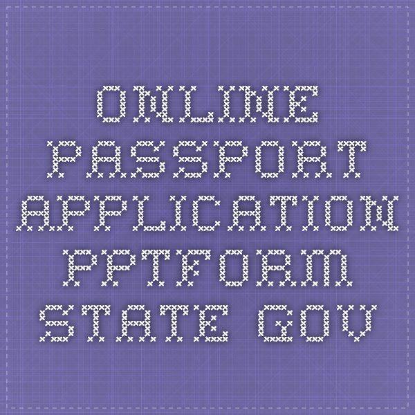 Online Passport Application - pptform.state.gov