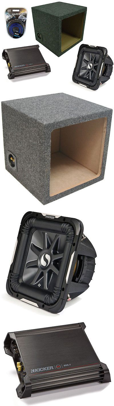 Car Subwoofers: Kicker Car Audio 15 4 Ohm Sub S15l7 Loaded Sealed Subwoofer Box And Dx500.1 Amp BUY IT NOW ONLY: $519.95