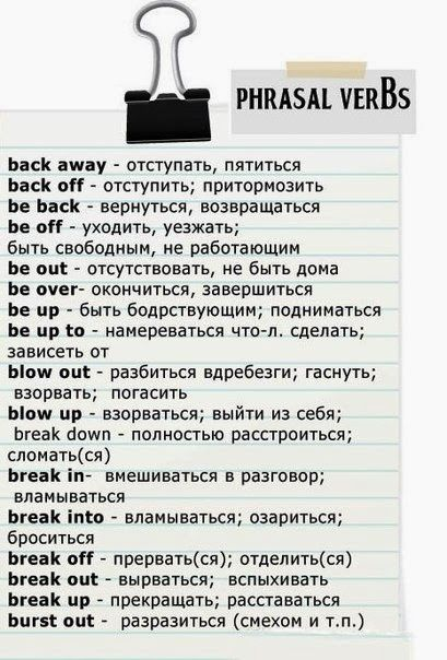 russian useful verbs