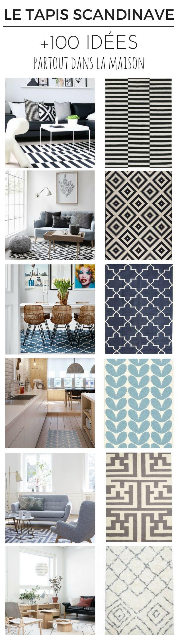 Le Tapis Scandinave : +100 Idées Partout Dans La maison ! http://www.homelisty.com/tapis-scandinave/