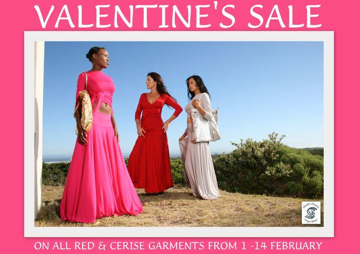 Valentine's Sale in our exclusive boutiques: Hazeldean Square Pretoria, Main Rd Franschhoek & Village Sqaure St Francis Bay