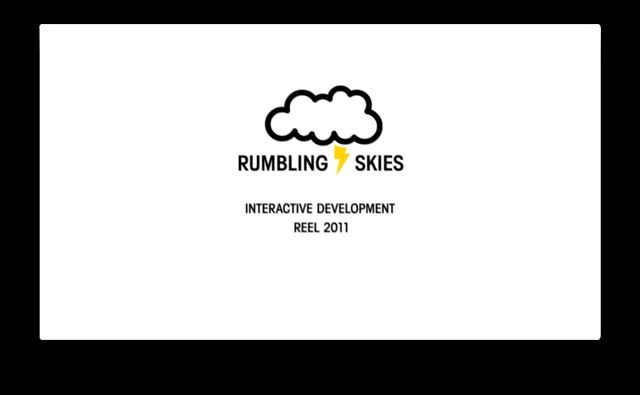 Showreel 2011 by Rumbling Skies. A showcase of some of the projects I produced in recent years. Some solo, but most of them with great other developers. Thanks go out to all of those who I've had the privilige of working with.