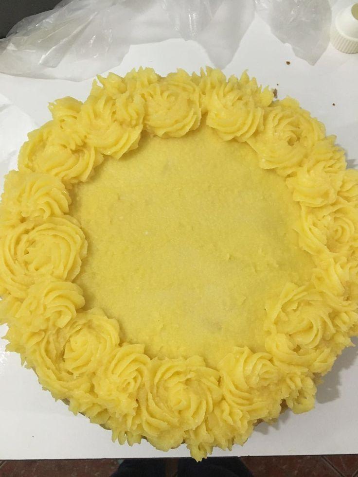 Torta panqueque de naranja - Cata Martínez N